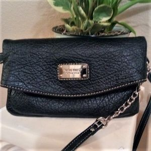 "Nine West Black ""Tunnel"" Crossbody Bag"
